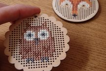 Cross stitch wood