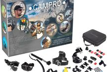 CamPro is a set that will make you remember and never forget all the exciting moments / CamPro Extreme - 52pcs Complete Sports Camera Accessories Bundle, 23 in 1 Kit For Official Gopro Hero 1 2 3 3+ 4, SJCAM SJ4000, Sunco DREAM 2 Cameras and more. With buckles, straps, accessories, cases, waterproof mounts, filter and more in Storage Case