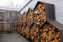 Stockage de bois de chauffage