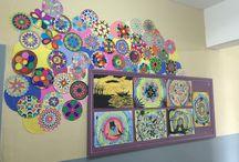 Resim dersi / Okul resim pano ders görsel sanatlar Öğrenci resimleri