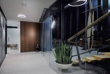'50s office by brigada* / Brigada created original '50s atmosphere inside law firm offices, on top of a skyscraper in Zagreb. Read more here: http://www.brigada.hr/projects/fifties-style-above-zagreb/