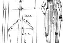 Dámské kostýmy a střihy 20. léta