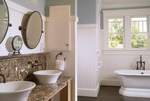 Bathrooms Luxurious / Luxurious bathrooms with mirrored accents and metallics