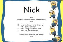 Minions with names