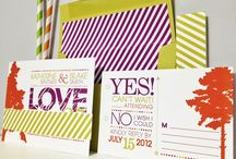 Dandelion Willows - Trees & Stripes / Trees & Stripes Invitation Suite by Dandelion Willows Invitations + Stationery