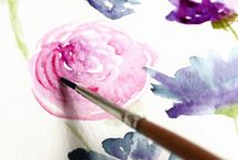 Watercolor flower turorial