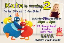 Personalised Twirlywoos Invitations and Thank You cards