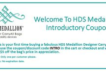 Current Promotions / Check this board to see what promotions we're currently running, so you can get an HDS Medallion bag for you or a loved one at the best price possible!