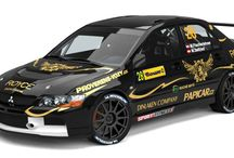 KIT Racing - P. Gavlák, M. Fischerlehner (Mitsubishi Lancer Evo IX) / Design for Barum Rally 2013.