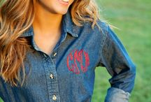 Monograms / There's a saying in the South--if it moves, monogram it.