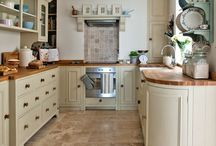 french kitchen in cream colours