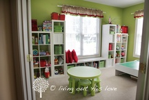 Homeschool Rooms / Homeschool rooms, storage ideas, and creative ways to homeschool in your own home.