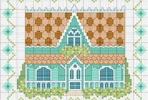 Embroidery - Houses, Buildings & Landscapes / embroidery and cross stitch