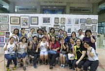 Taiwan ATC Exhibition in Taipei / From July 4 to July 15, 2016, More than 2000 ATCs presented in the exhibition, by 64 stampers in Taiwan.