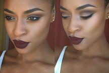 · maquiagem + pele negra
