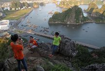 Ha Long Bay viewed from the top of mountain