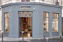 Epiceries fines Cosi vas - Paris / Aménagement complet par Bel Ordinaire de deux épiceries fines s aveyronnaises aux accents contemporains.