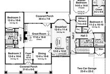 House Floor Plans / Floor plans that fit the needs of our family:  2000-2600 sq ft,  Single level (although bonus rooms are acceptable),  Master bedroom and two guest rooms,  Two office areas,  Kitchen close to garage.