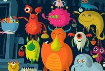 dinosaurs, aliens and monsters