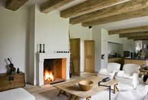 FIreplaces / Some are wider and modern but can be rusticated