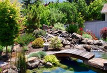 Pleasant Ponds / A collection of #ponds we love! You can create these finished products by using our Landscape Edging from YardProduct.com. #Landscaping