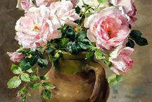 Blompotte om te skilder