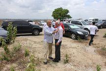 Reitor do IFS recebe governador Jackson Barreto / Visita as obras do Campus Propriá/IFSERGIPE