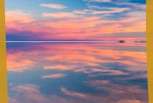 Espejismos de agua en el Salar de Uyuni
