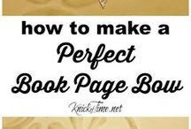 Making bows of book paper