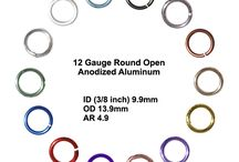 Jump Rings - Anodized Aluminum / These jump rings are sawcut for nice straight edges making them excellent for use in chainmail jewelry. They are made with aluminum wire and colored using an anodizing process making them light and with long lasting tarnish-resistant color.