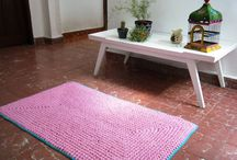 Tapetes y Alfombras / Tejidos al crochet en tela, de la medida y colores que gustes.