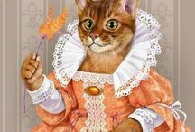 фото regal cats in oil 4