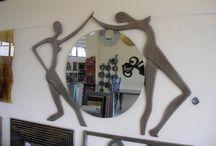 """""""Καθρέπτες - Ανθρώπινες μορφές"""" / Χειροποίητοι ξύλινοι σκαλιστοί καθρέπτες,πραγμτικά έργα τέχνης που δίνουν την αίσθηση ότι είναι μέταλλο....αλλά δεν είναι!"""