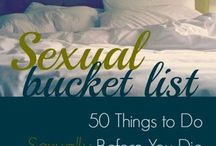 Sexual bucket list