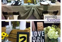 pfe real weddings / these are weddings/designs produced by planning forever events / by Saundra Hadley