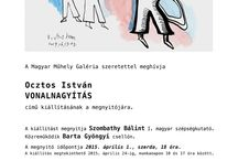 Line Enlarge / invitation poster to the exhibition of Istvan Ocztos