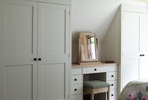 Attic bedroom wardrobes