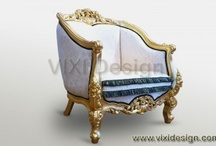 Gold Furniture / Gold leaf furniture classic and modern