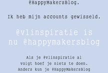 Dit WAS eerder @Happymakersblog / Hoi volger van @HappyMakersBlog.  Ik heb mijn accounts gewisseld.   @vlinspiratie is  nu @happymakersblog  Als je @vlinspiratie al  volgt hoef je niets te doen.  Anders kun je @HappyMakersBlog  opnieuw gaan volgen.  Ik zie je daar graag weer terug!  Groet, Monique / by Vli privé