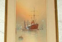 Art / Art including Victorian, early 20th century and Vintage Watercolours, Oil on Boards, Prints, Lithographs etc