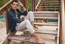 "David Gandy Stars in Marks & Spencer Spring/Summer 2015 Campaign / Pictures found at Design Fever's article ""David Gandy Stars in Marks & Spencer  Spring/Summer 2015 Campaign"".  Model: David Gandy."