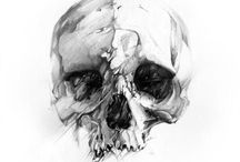 Skulls and skeletons / Inspiration for artworks