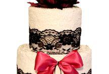 Svadobné uterákové torty