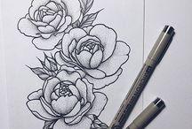 Цветы.Эскизы