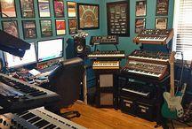 Estúdio de música doméstico
