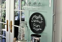 Repurposing old doors and windows