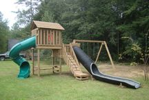 OUTDOORS :: Water Slides / Water slides are one of the best ways to cool off during the Summer months and will keep you kids entertained for hours on end!  Create your own Summer vacation getaway in your own backyard!
