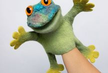 Glove puppets and characters