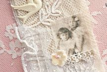 Snippets & Lace Rolls / small bits of lace, rolls of ephemera, buttons,beads, charms....