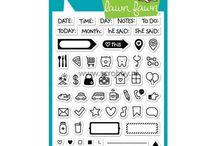 Leimasimet / Planner stamps